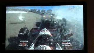 Will Power In Car Crash Video Involving Dan Wheldon Las Vegas 2011 Indycar