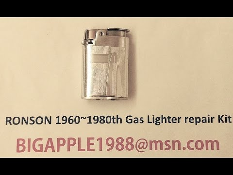 RONSON 1960~1980th Gas Lighter repair Kit**12(Not the origional RONSON components)