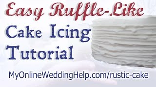 Easy Ruffle-Like Wedding Cake Icing Tutorial Thumbnail
