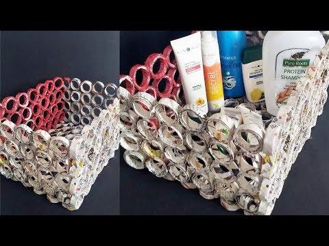 Newspaper - Best out of waste idea 2019 ||Newspaper basket Making