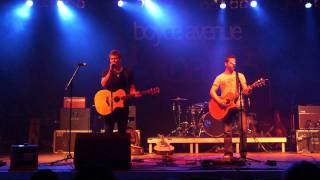 Boyce Avenue and Tyler Ward - Fix you - LIVE BERLIN 20.11.2011 at Huxleys HD