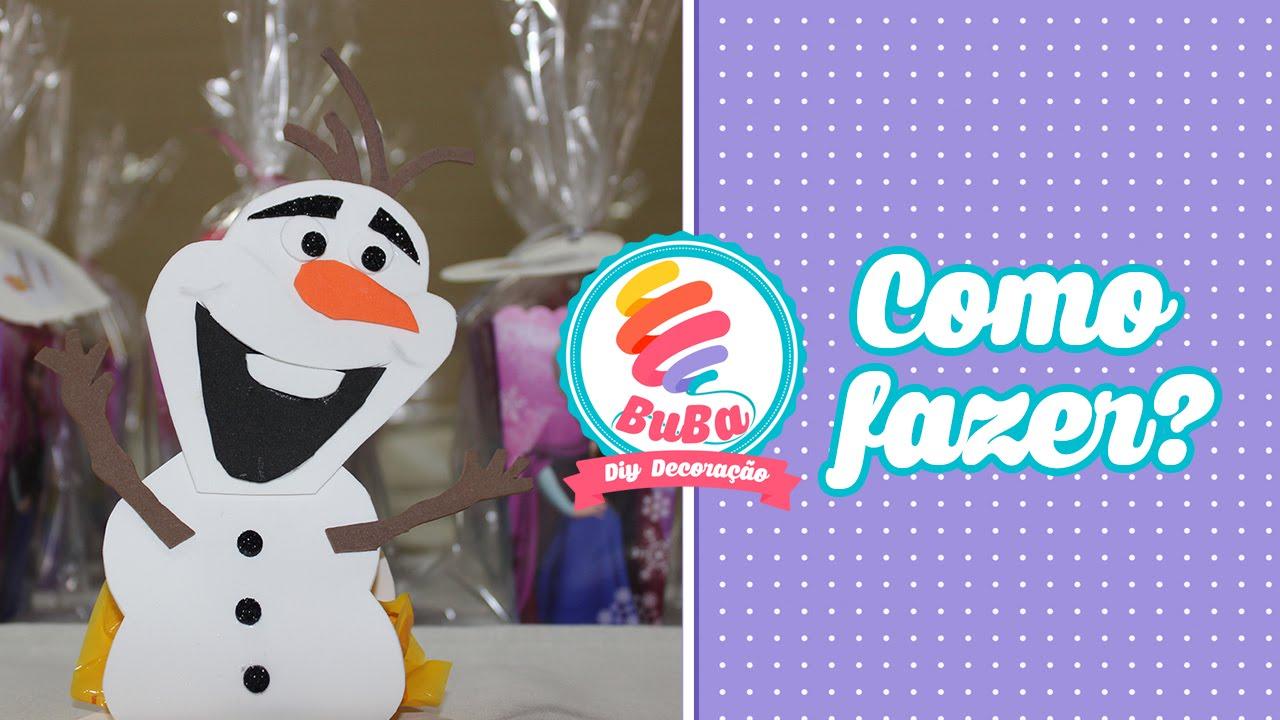 Lembrancinha da Frozen Olaf de EVA - YouTube
