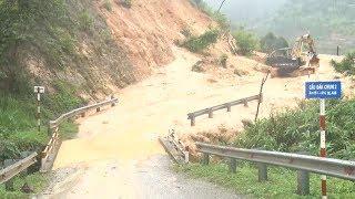 Mưa lũ gây sạt lở tại những huyện vùng cao ở Kon Tum