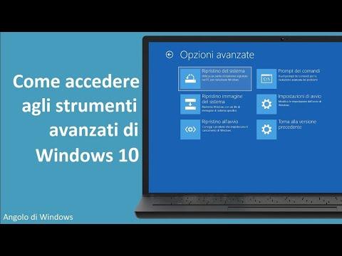 Tutorial per accedere agli strumenti avanzati di Windows 10