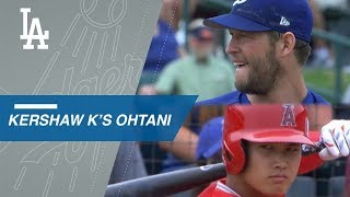 Clayton Kershaw sets Shohei Ohtani down on strikes
