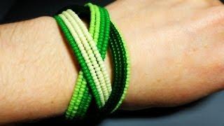 Видеоурок: Бисерный браслет на пружинной основе