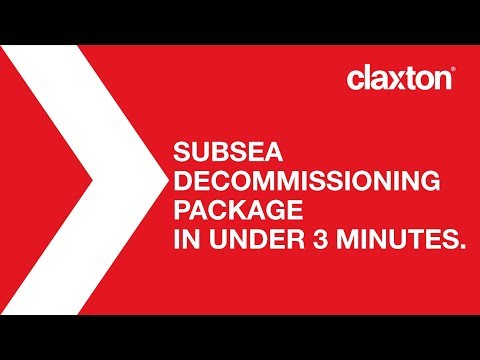 Claxton's Subsea Decommissioning Package in under 3 minutes