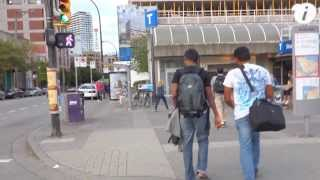 Walk in Downtown Vancouver - August 2013 - Filmed using Sony RX100 + Hague MMC
