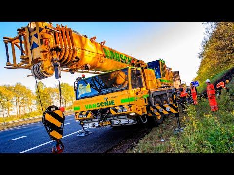 BERGING : Uitgebrande trailer  van vrachtwagen op snelweg 🚚👷🏻