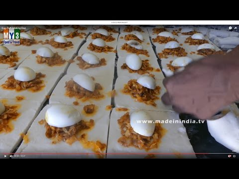 Egg puffs Making in Bakery Step by Step | Bakery Foods