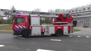P1 Brandweer Amstelveen Beroeps+vrijwilligers rukken uit naar woningbrand