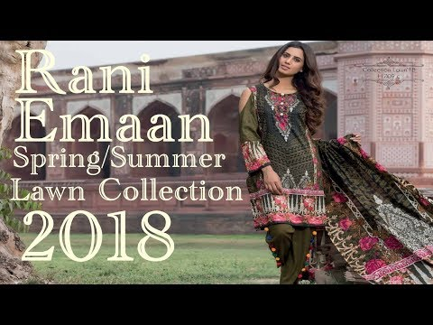 bd39b999dd Rani Emaan Spring\Summer Lawn Collection 2018 - YouTube