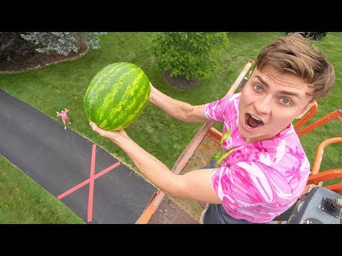 DROPPING WATERMELON 45FT!!