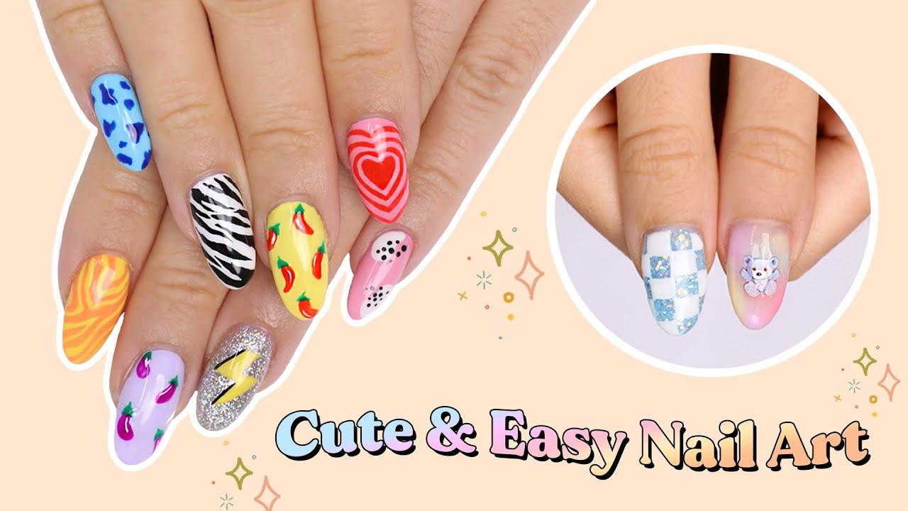 10 Cute & Easy Nail Art Designs