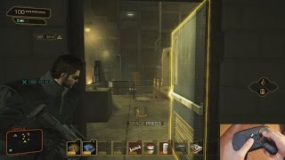 Taking Adam Jensen for a spin with the steam controller Works pretty well with just about every style of gameplay you want to go for in Deus Ex whether it be