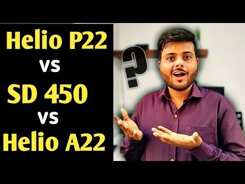Repeat Mediatek Helio P22 vs Snapdragon 450 vs Helio A22 || Best