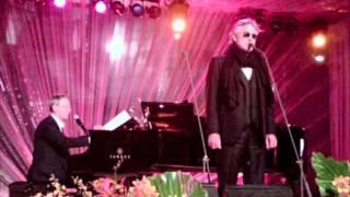 Andrea Bocelli sings for Priscilla Presley