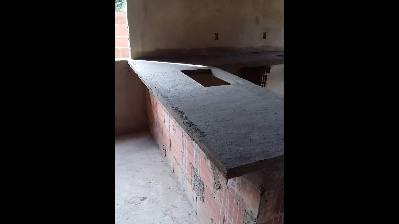 Bancada de concreto para cozinha youtube for Como hacer una pileta de cemento