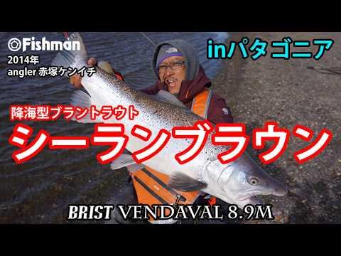 パタゴニアのシーランブラウン(降海型ブラウントラウト)のルアー釣り