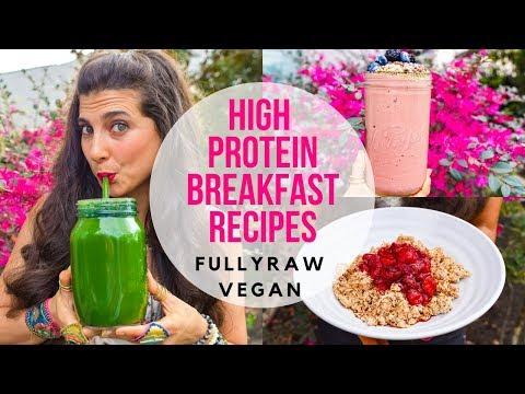 3 HIGH PROTEIN BREAKFAST RECIPES |  FullyRaw Vegan