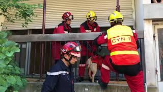 """Simulation de """"sauvetage-déblaiement"""" post séisme avec les pompiers de l'hérault à montpellier"""