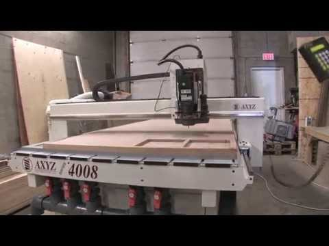 AXYZ CNC Router, Model 4008, (4' x 8') with V/T, Pump & Dust