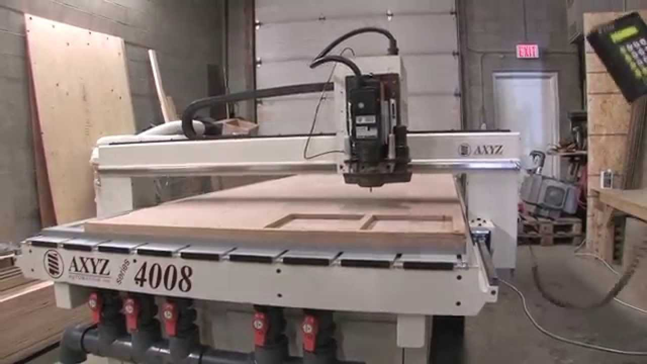 Axyz Cnc Router Model 4008 4 X 8 With V T Pump