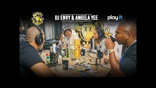 DRINK CHAMPS: Episode 40 w/ DJ Envy & Angela Yee | Talk Breakfast Club, Origins of N.O.R.E. + more