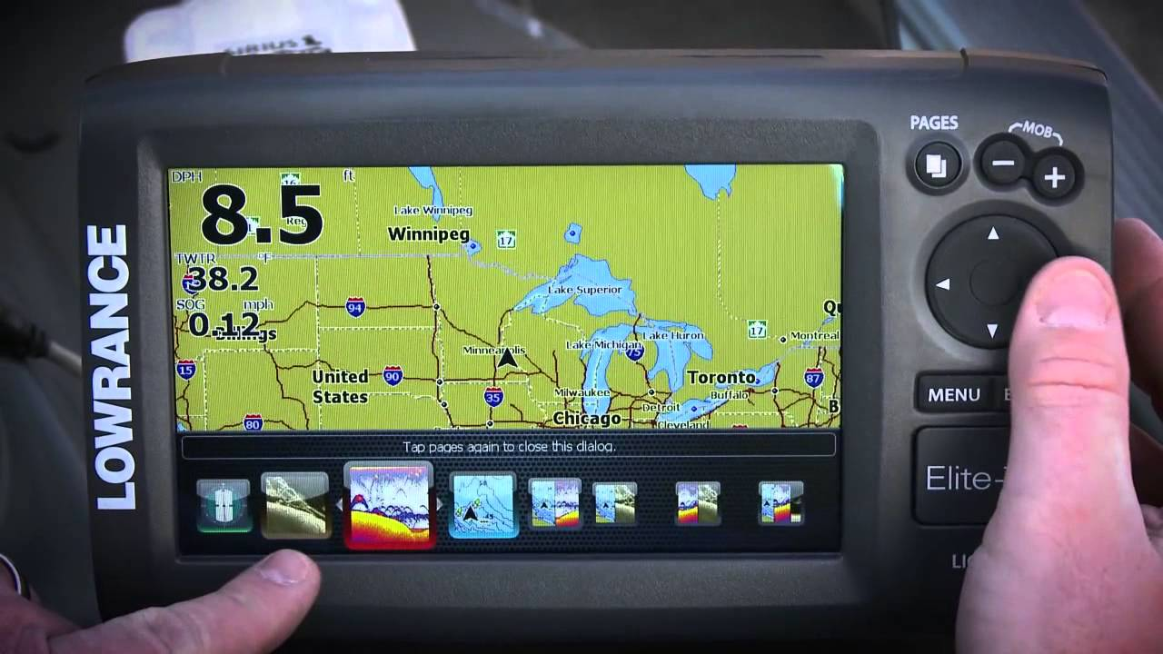 lowrance elite 7 hdi fish finder with down scan overview - youtube, Fish Finder