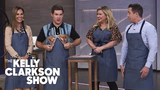 Adam Devine, Amy Brenneman And Kelly Test Out Hilarious Unnecessary Inventions With Matt Benedetto