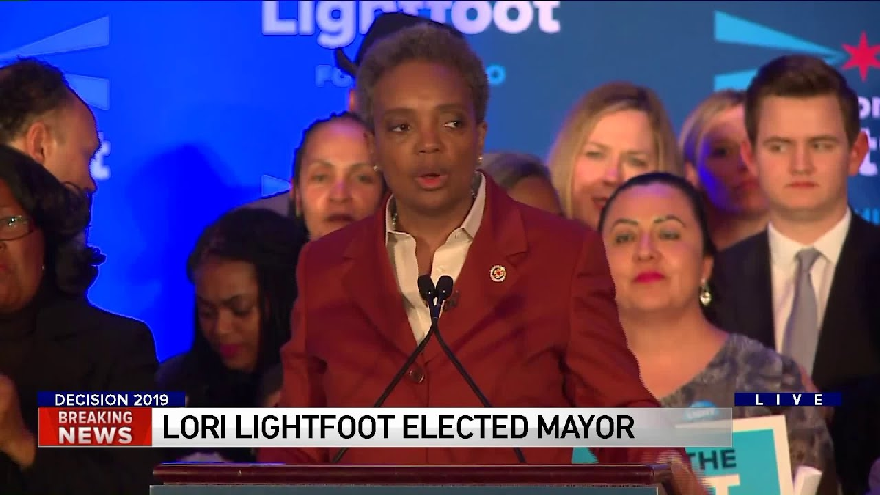 Chicago elects Lori Lightfoot as first gay and first black female mayor in city's history