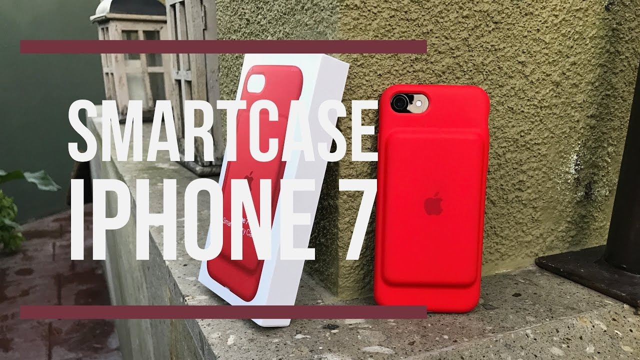 sale retailer b3f51 68535 Apple iPhone7 Smart Battery Case Red