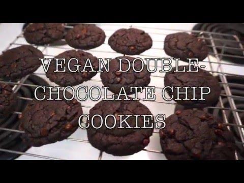 VEGAN DOUBLE-CHOCOLATE CHIP COOKIE   Quick & Delicious Recipe (NO ...