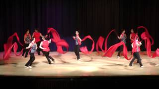 NYCCC Chinese New Year 2013 @ Millenium HS - Spectacular Red Ribbon Dance Finale