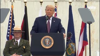 President Trump and The First Lady Participate in a Flight 93 National Memorial Observance
