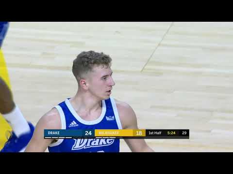 MBB: Drake builds big first-half lead, beats Milwaukee 75-61