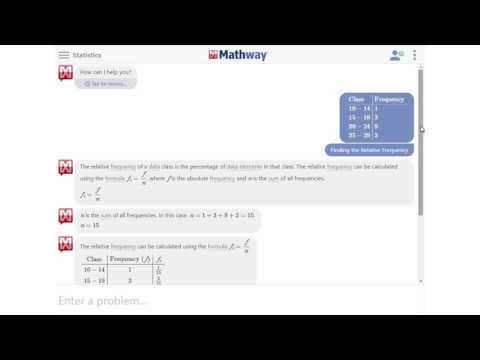 Find the Relative Frequency - YouTube Mathway Histogram on