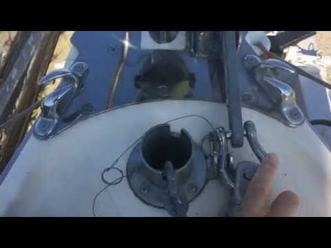 Marieholm26 Folkboat - Anchor, Bow Roller fittings in a small boat!