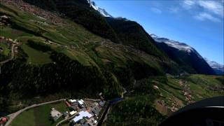 [X-Plane Full HD] Take off from Innsbruck with the P180 Avanti II