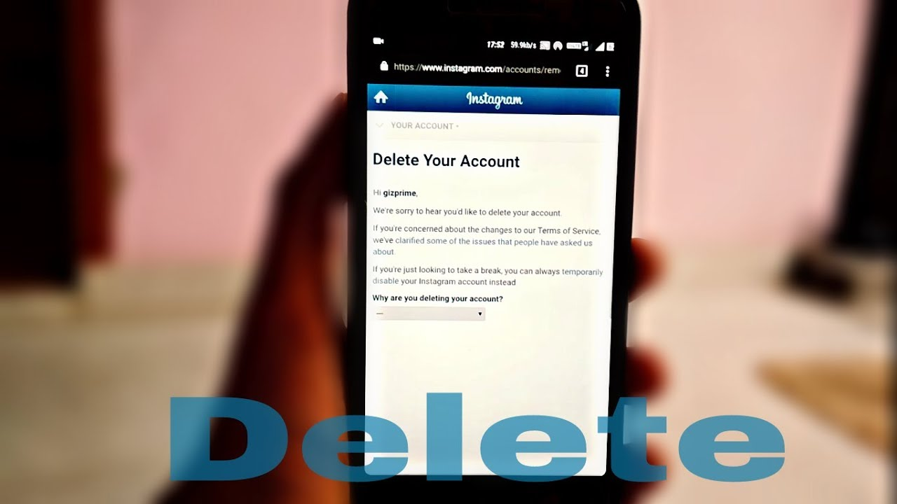 How to delete an instagram account permanently and temporarily how to delete an instagram account permanently and temporarily ccuart