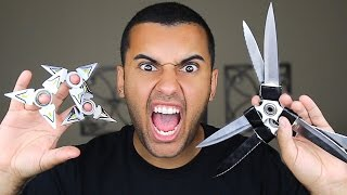 MOST DANGEROUS TOY OF ALL TIME!! FIDGET SPINNER!! (+1000MPH) FLAMING FIDGET NINJA STAR!! EDITION!!!