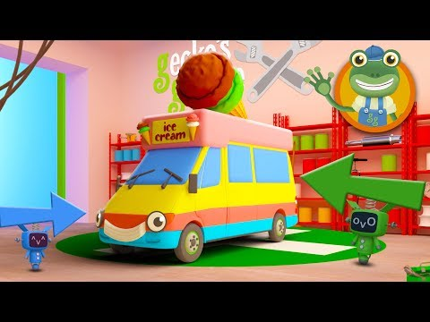 Learn Ice Cream Truck Parts with Vicky The Ice Cream Van | Gecko
