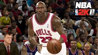 NBA 2K11: '96-'97 Houston vs. '96-'97 Chicago   PC Gameplay with Mods
