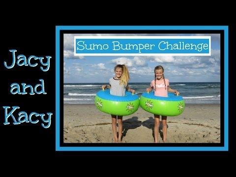 Sumo Bumper Challenge ~ Jacy and Kacy