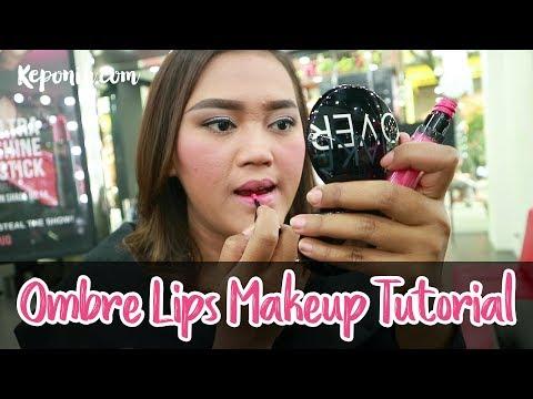 ombre-lips-makeup-tutorial-dengan-lipstik-/-lip-cream-make-over