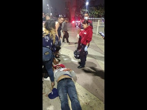 tourists gets beaten, at san ysidro border in mexico