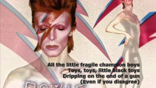 David Bowie We Prick You Lyrics On Screen