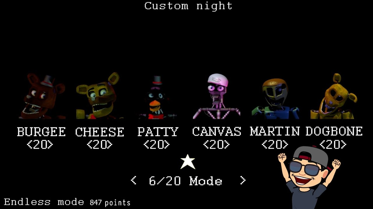 6/20 MODE AND ENDLESS MODE! (847 POINTS) | BURGEE'S BURGER PALACE | MODO 6/20 | FNAF FAN GAME 2020 |