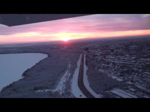 Flying above Tallinn in winter