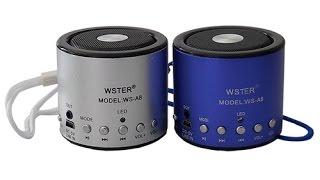 Видео-обзор Мини колонка МР3 WSTER портативная FM, USB